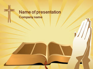 The Bible, prayer - Religious PPT template