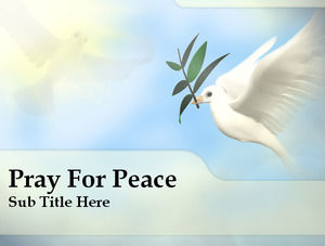 The dove of peace PPT slides template