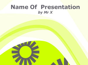 Twisting Patterned Curve powerpoint template