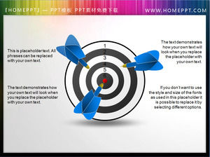 Two beautiful 3D darts PPT material
