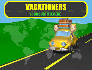 Vacationers travel