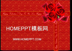 Valentine's Day gift background PPT template download, Valentine's Day PPT template download