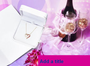 Valentine's Day wine necklace - holiday PPT template