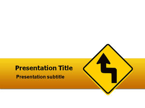 Yellow traffic warning PowerPoint template free download